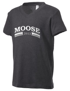 Alamosa Open High School Moose Kid's V-Neck Jersey T-Shirt