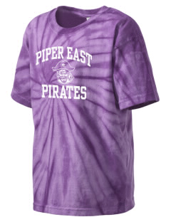 Piper East Elementary School Pirates Kid's Tie-Dye T-Shirt