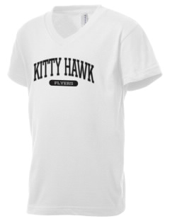 Kitty Hawk School Flyers Kid's V-Neck Jersey T-Shirt