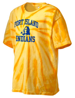 Fort Island Primary School Indians Kid's Tie-Dye T-Shirt
