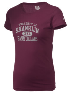 Shanklin Elementary School Sand Dollars  Russell Women's Campus T-Shirt