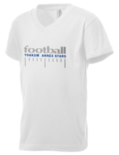 Yoakum Primary Annex School Stars Kid's V-Neck Jersey T-Shirt