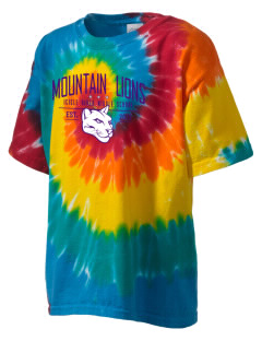 Icicle River Middle School Mountain Lions Kid's Tie-Dye T-Shirt