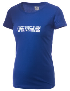 North Woods Elementary School Wolverines  Russell Women's Campus T-Shirt