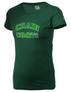 Crain Middle School Comets  Russell Women's Campus T-Shirt