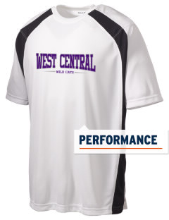 West Central Middle School Wild Cats Men's Dry Zone Colorblock T-Shirt