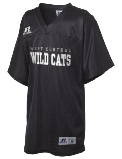 West Central Middle School Wild Cats Russell Kid's Replica Football Jersey