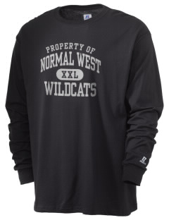 Normal Community West High School Wildcats  Russell Men's Long Sleeve T-Shirt