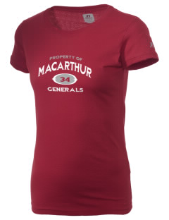 Douglas MacArthur High School Generals  Russell Women's Campus T-Shirt