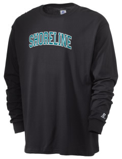 Shoreline Middle School Sharks  Russell Men's Long Sleeve T-Shirt