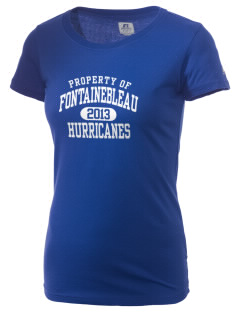 Fontainebleau Junior High School Hurricanes  Russell Women's Campus T-Shirt