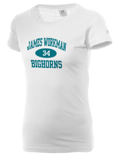 James Workman Middle School Bighorns  Russell Women's Campus T-Shirt