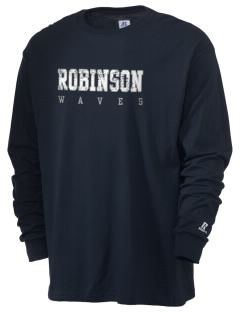 Robinson Elementary School Waves  Russell Men's Long Sleeve T-Shirt