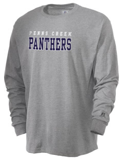 Penns Creek Elementary School Panthers  Russell Men's Long Sleeve T-Shirt