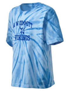 A W Dimmitt Middle School Vikings Kid's Tie-Dye T-Shirt
