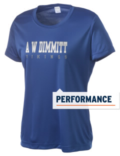 A W Dimmitt Middle School Vikings Women's Competitor Performance T-Shirt