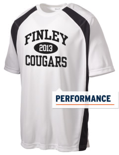 Finley Elementary School Cougars Men's Dry Zone Colorblock T-Shirt