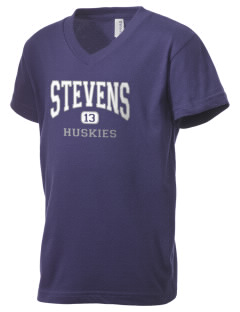 Stevens Elementary School Huskies Kid's V-Neck Jersey T-Shirt