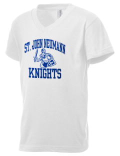 Saint John Neumann School Knights Kid's V-Neck Jersey T-Shirt