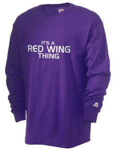 Red Wing High School Wingers  Russell Men's Long Sleeve T-Shirt