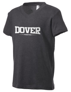 Dover Middle School Pirates Kid's V-Neck Jersey T-Shirt
