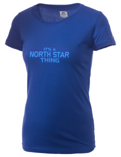 North Star Elementary School Huskies  Russell Women's Campus T-Shirt