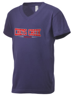 Chets Creek Elementary School Eagles Kid's V-Neck Jersey T-Shirt