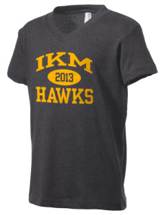 IKM Middle School Hawks Kid's V-Neck Jersey T-Shirt