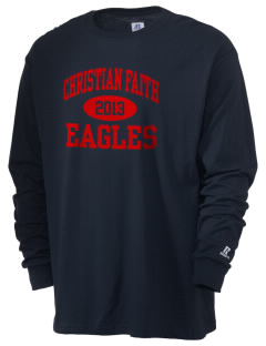 Christian Faith School Eagles  Russell Men's Long Sleeve T-Shirt