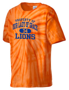 Our Lady Of Grace School Lions Kid's Tie-Dye T-Shirt