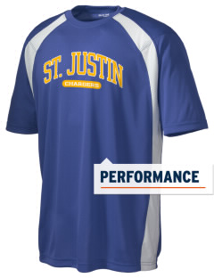 Saint Justin School Chargers Men's Dry Zone Colorblock T-Shirt