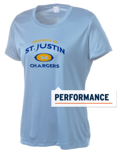 Saint Justin School Chargers Women's Competitor Performance T-Shirt