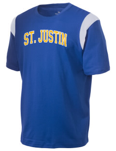 Saint Justin School Chargers Holloway Men's Rush T-Shirt