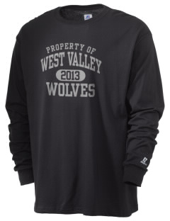 West Valley Middle School Wolves  Russell Men's Long Sleeve T-Shirt