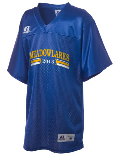 Meadowlark Elementary School Meadowlarks Russell Kid's Replica Football Jersey