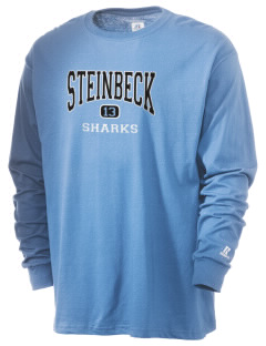 Steinbeck Elementary School Sharks  Russell Men's Long Sleeve T-Shirt