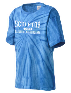 Sculptor Elementary School Painters With Brushes Kid's Tie-Dye T-Shirt