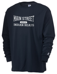 Main Street Elementary School Indian Heads  Russell Men's Long Sleeve T-Shirt