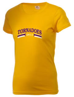Purvis Attendance Center tornadoes  Russell Women's Campus T-Shirt