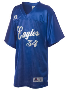 Iowa Great Lakes Lutheran School Eagles Russell Kid's Replica Football Jersey