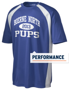 Boerne Middle School North Pups Men's Dry Zone Colorblock T-Shirt