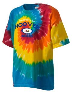 Hoover Elementary School Bears Kid's Tie-Dye T-Shirt