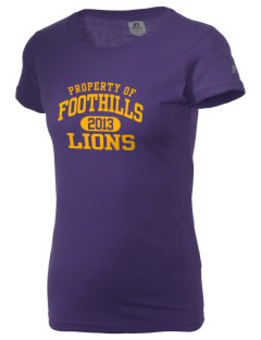 Foothills High School Lions  Russell Women's Campus T-Shirt
