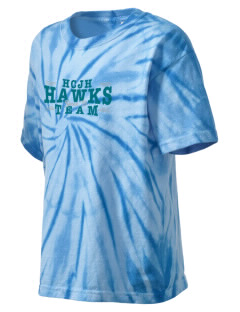 Heights Christian Junior High School Hawks Kid's Tie-Dye T-Shirt