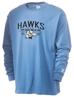 Heights Christian Junior High School Hawks  Russell Men's Long Sleeve T-Shirt