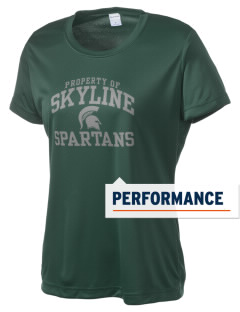Skyline High School Spartans Women's Competitor Performance T-Shirt