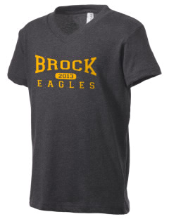 Brock High School Eagles Kid's V-Neck Jersey T-Shirt