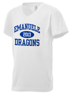 Emanuele Elementary School Dragons Kid's V-Neck Jersey T-Shirt