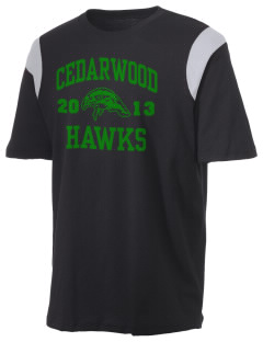 Cedarwood Elementary School Hawks Holloway Men's Rush T-Shirt