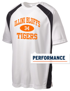 Illini Bluffs Elementary School Tigers Men's Dry Zone Colorblock T-Shirt